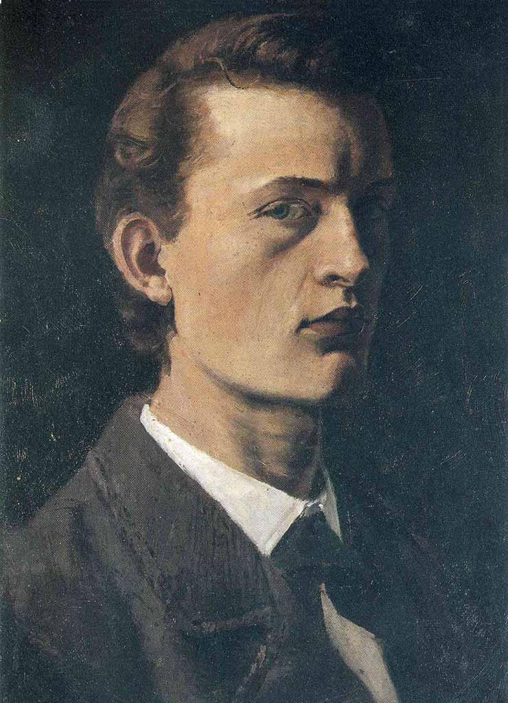 "Эдвард Мунк (Edvard Munch) ""Self-Portrait"""