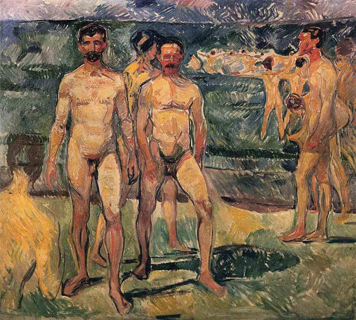 "Эдвард Мунк (Edvard Munch) ""Купальщики | Bathing Men """
