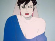 "Патрик Нагель (Patrick Nagel) ""Blue sweater"""