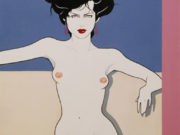 "Патрик Нагель (Patrick Nagel) ""Nude female"""