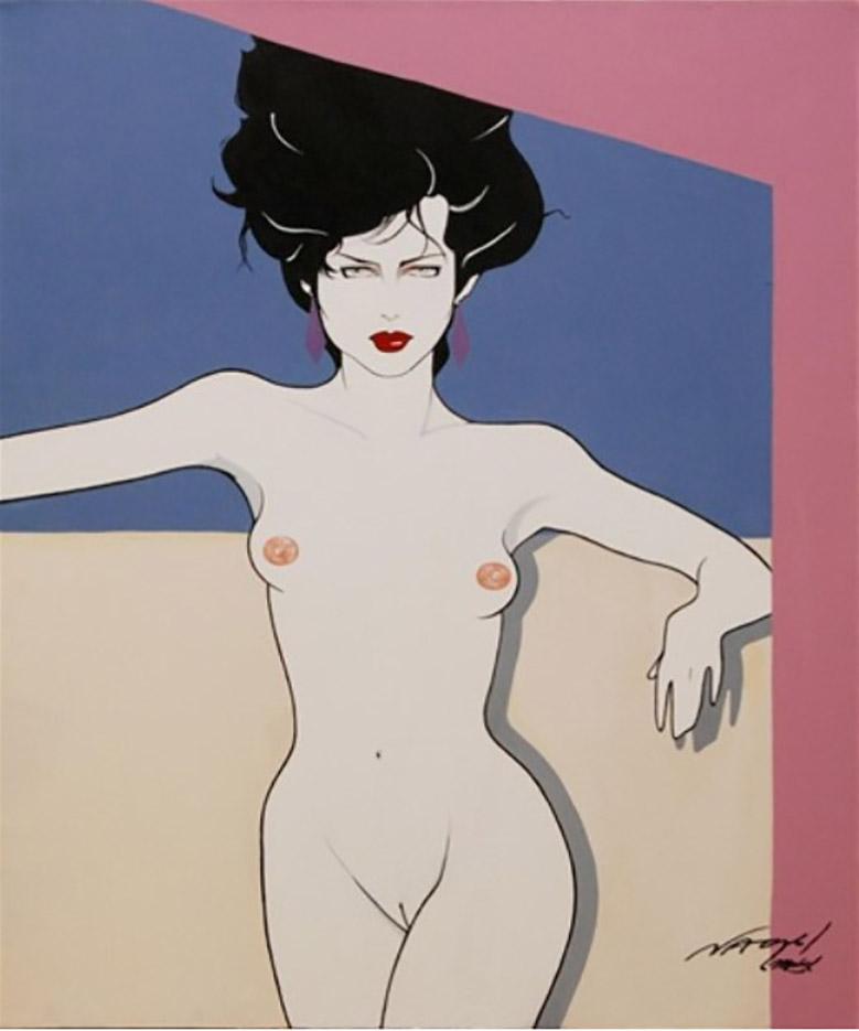 "Патрик Нагель (Patrick Nagel) ""Nude female"""