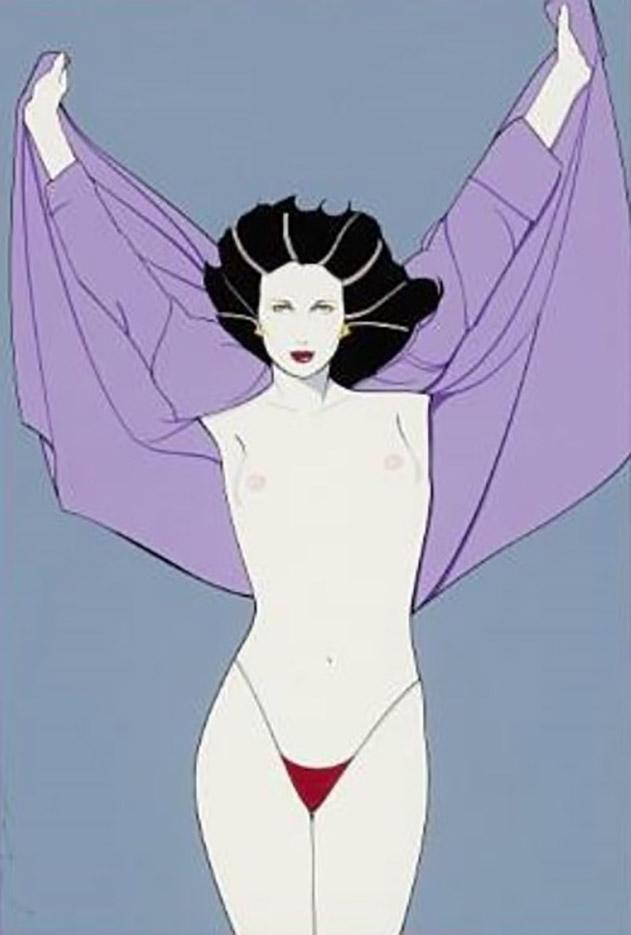 """Патрик Нагель (Patrick Nagel) """"Playboy painting"""""""