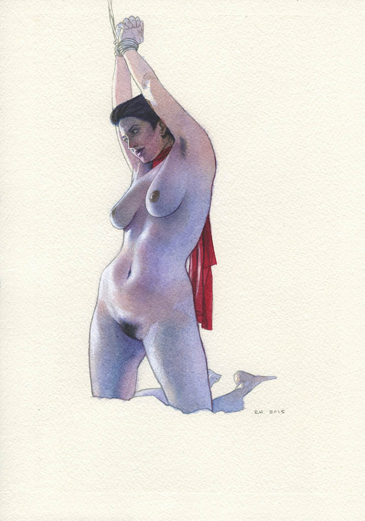 "Рубен Негрон (Reuben Negron) ""Karin Tied"" (Drawings)"