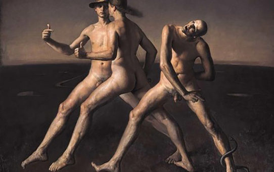 "Одд Нердрум (Odd Nerdrum) ""Man Bitten by a Snake"""