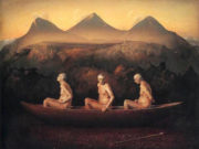 "Одд Нердрум (Odd Nerdrum) ""Three Men at Dawn"""