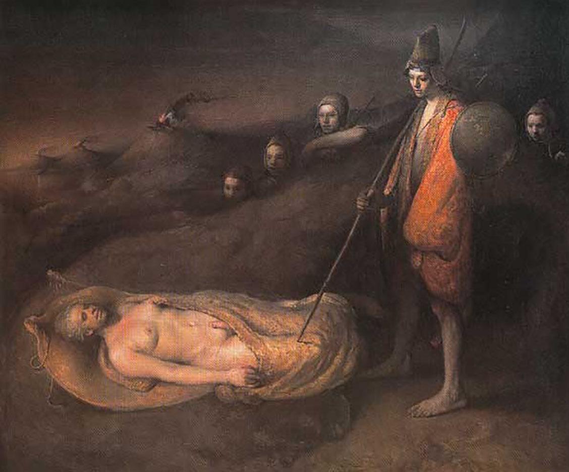"Одд Нердрум (Odd Nerdrum) ""Sleeping prophet"""