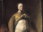 "Одд Нердрум (Odd Nerdrum) ""Self Portrait in Golden Cape"""