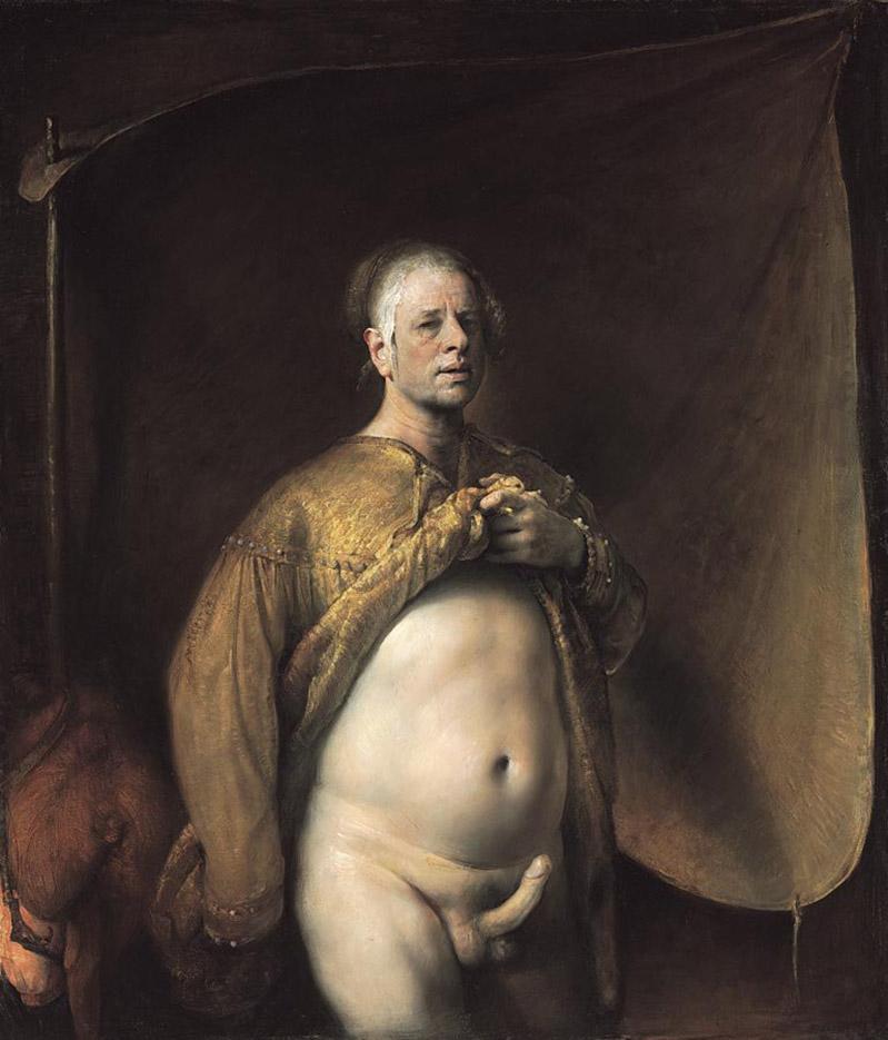 "Одд Нердрум (Odd Nerdrum) ""Self Portrait in Golden Cape"""