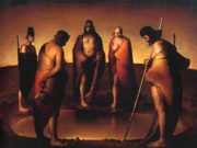 "Одд Нердрум (Odd Nerdrum) ""Five Persons Around a Water Hole"""