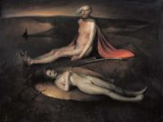 "Одд Нердрум (Odd Nerdrum) ""Old man with a dead maiden"""
