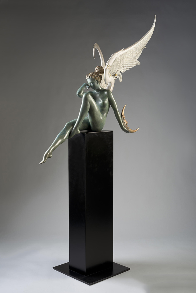 "Майкл Паркес (Michael Parkes) Bronze Sculptures ""Moonstruck"""