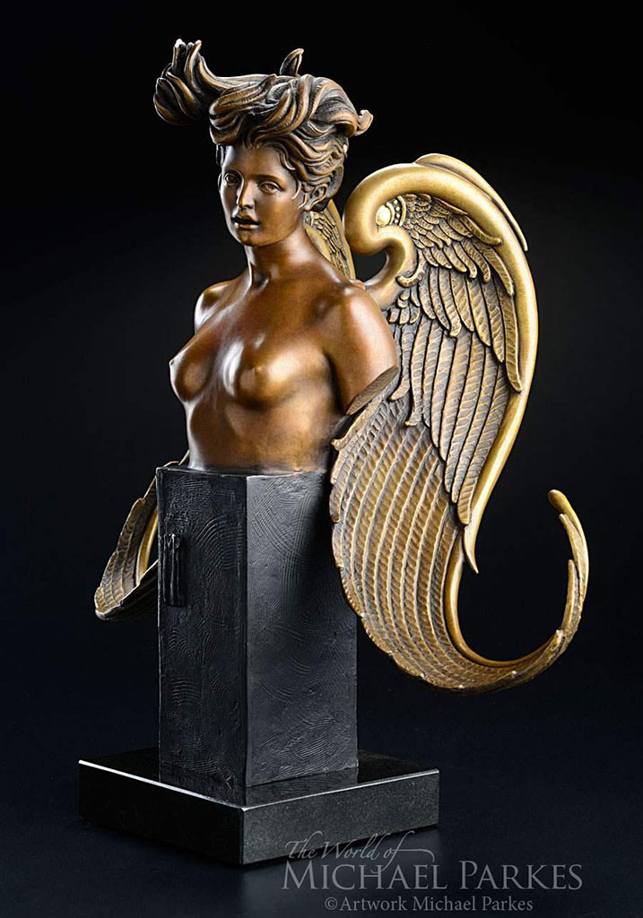"Майкл Паркес (Michael Parkes) Bronze Sculptures ""The Muse"""