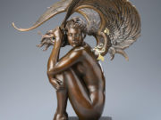 "Майкл Паркес (Michael Parkes) Bronze Sculptures ""Summer Storm"""