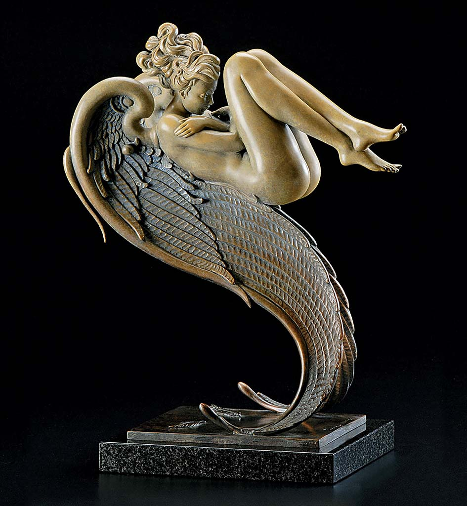 "Майкл Паркес (Michael Parkes) Bronze Sculptures ""Angel of August"""