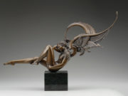 "Майкл Паркес (Michael Parkes) Bronze Sculptures ""Angel of Dawn"""