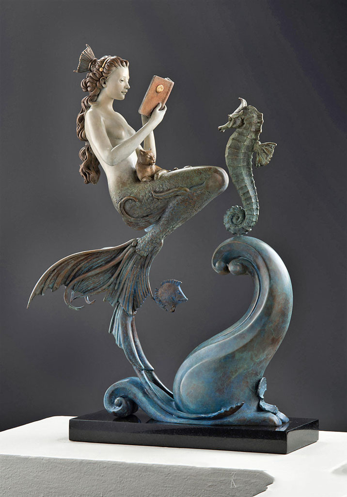 "Майкл Паркес (Michael Parkes) Bronze Sculptures ""The Mermaid"""