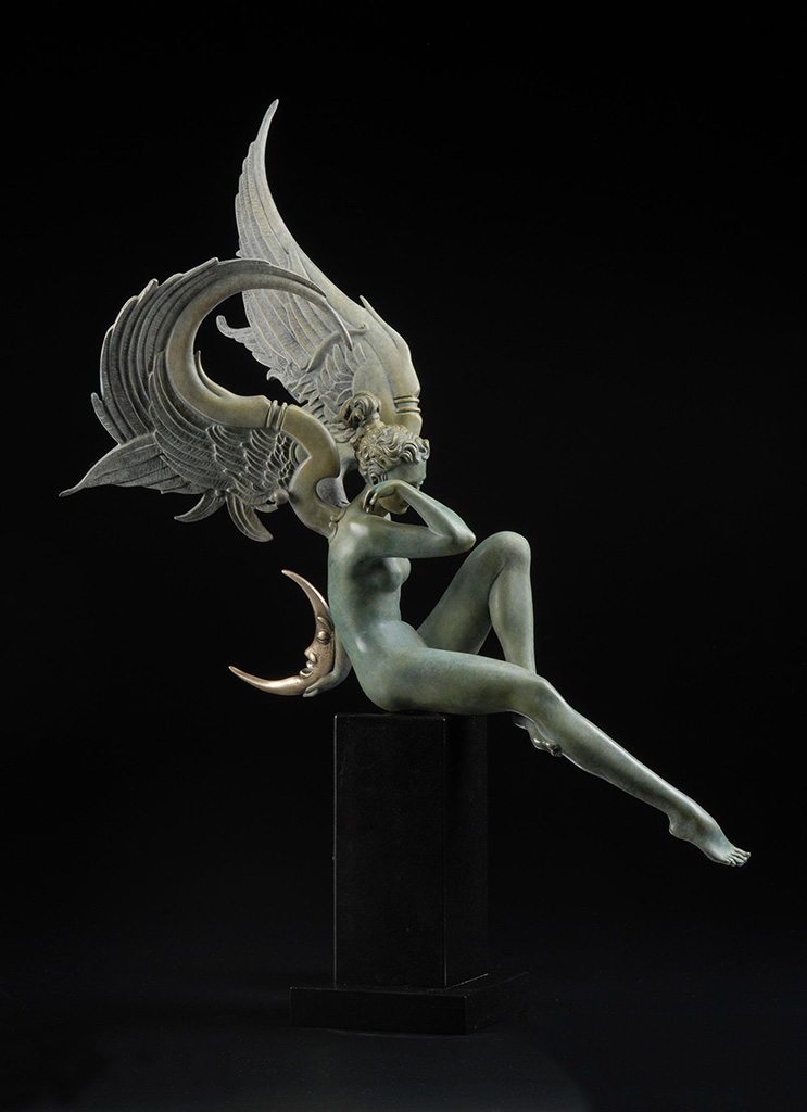 "Майкл Паркес (Michael Parkes) Bronze Sculptures ""Moonstruck - 2"""
