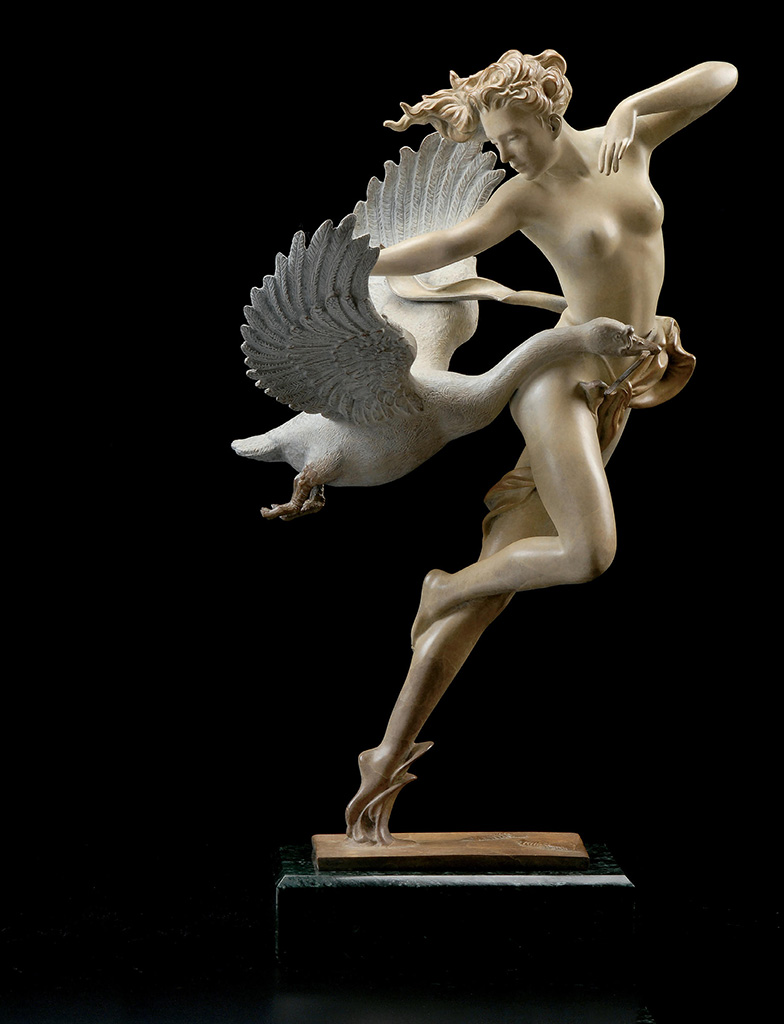 "Майкл Паркес (Michael Parkes) Bronze Sculptures ""Night Flight - 3"""
