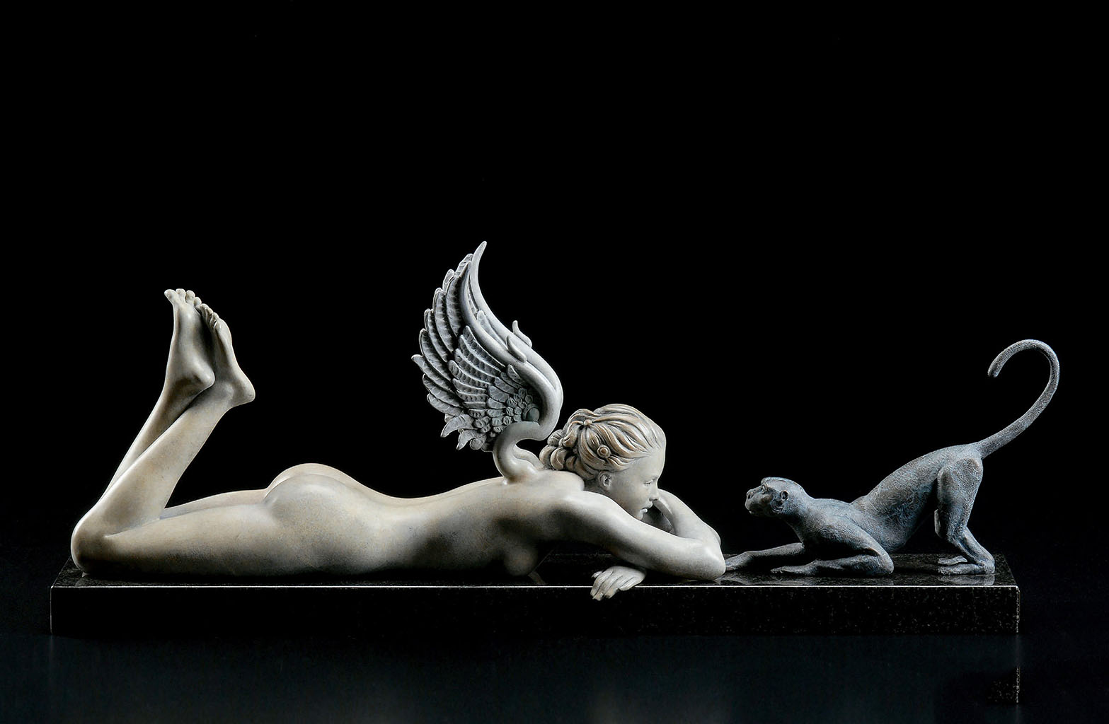 "Майкл Паркес (Michael Parkes) Bronze Sculptures ""See No Evil"""