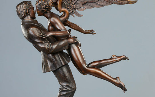 "Майкл Паркес (Michael Parkes) Bronze Sculptures ""Angel Affair"""