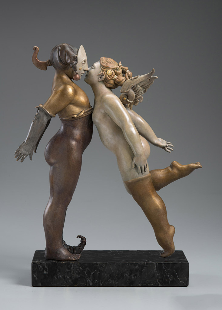 "Майкл Паркес (Michael Parkes) Bronze Sculptures ""Kissing 2016"""