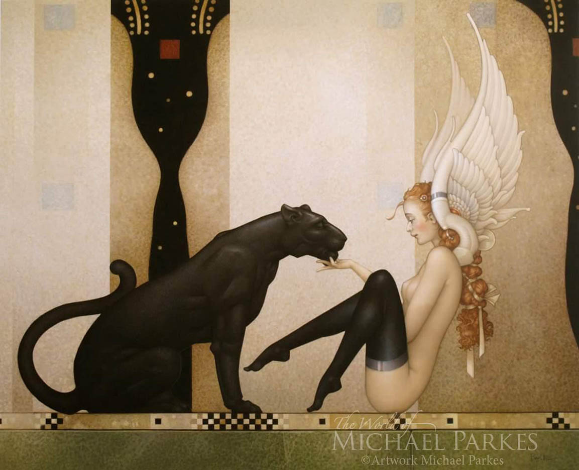 "Майкл Паркес (Michael Parkes) ""Black Panther, White Wings"""