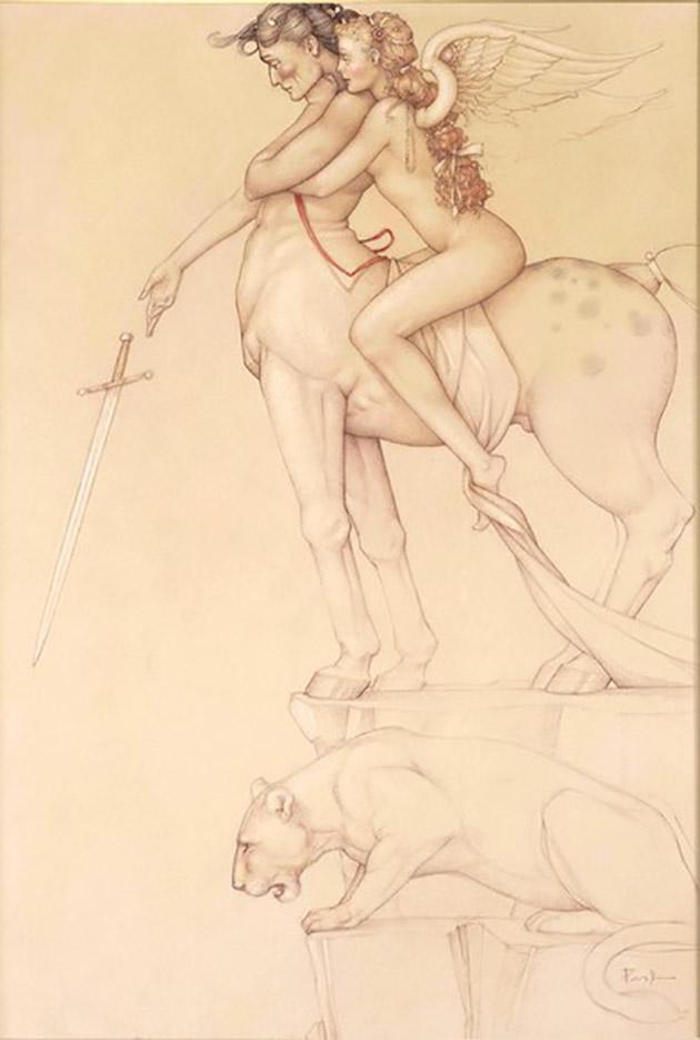 "Майкл Паркес (Michael Parkes) ""Centaur (Drawing)"""