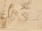"Майкл Паркес (Michael Parkes) ""Eden Project (Drawing)"""