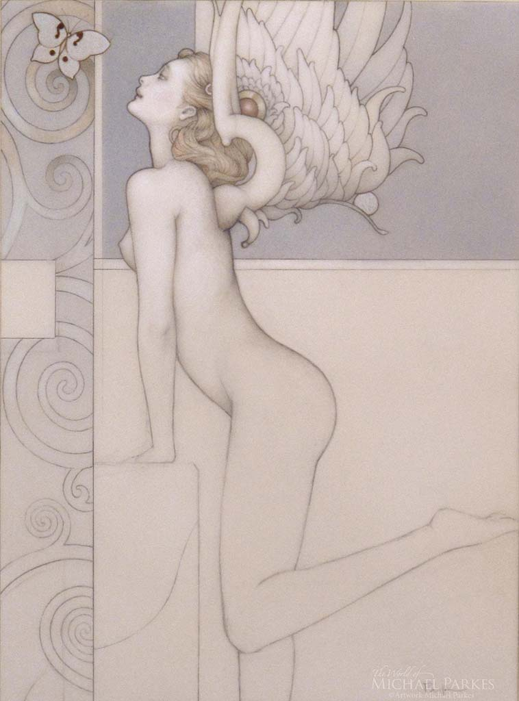 "Майкл Паркес (Michael Parkes) ""Silver Butterfly (Drawing)"""