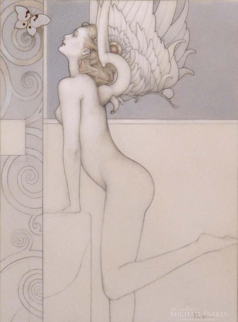 "Майкл Паркес (Michael Parkes) ""Silver Butterfly (Drawing)"""