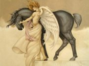 "Майкл Паркес (Michael Parkes) ""Dark Unicorn"""