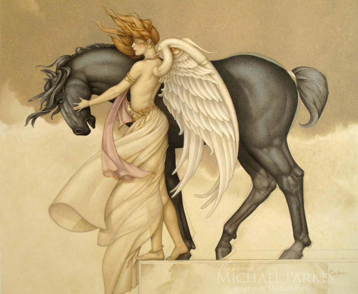 "Майкл Паркес (Michael Parkes) ""Dark Unicorn"""