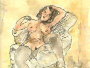 "Жюль Паскин (Jules Pascin) ""Nude on a chair"""