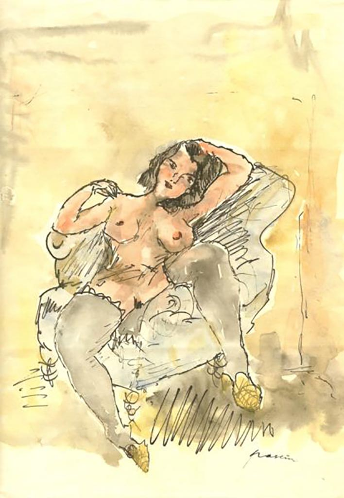 "Жюль Паскин (Jules Pascin) ""Nude on a chair"""