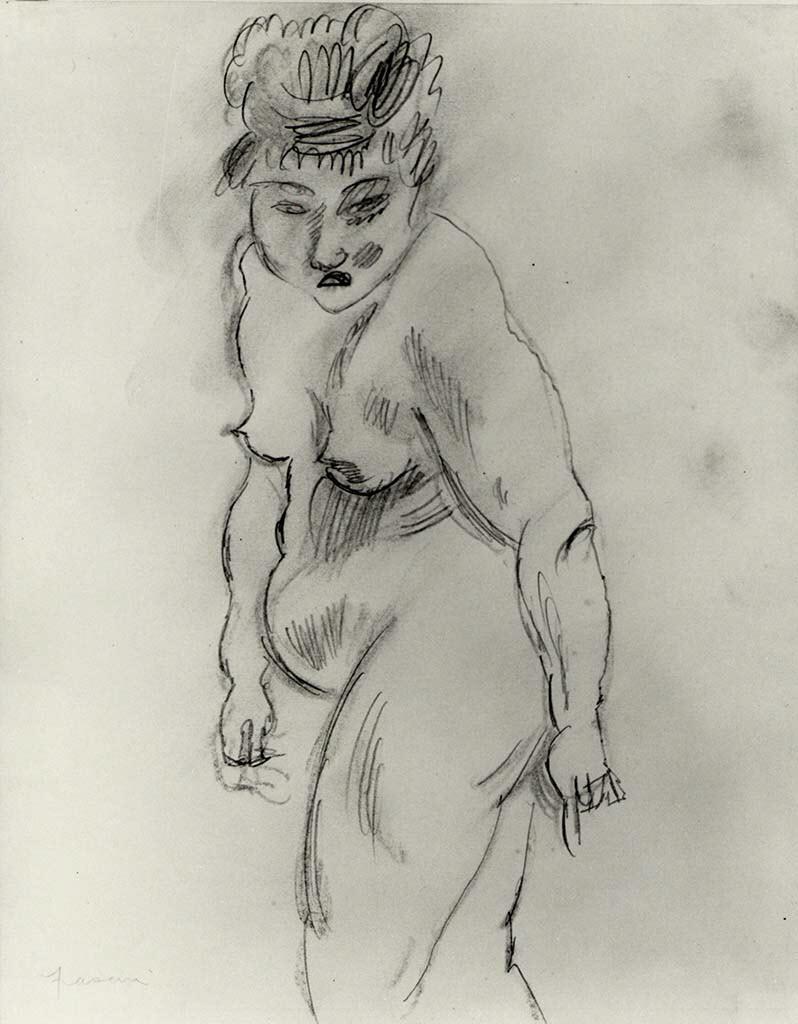 "Жюль Паскин (Jules Pascin) ""Nude Woman"""