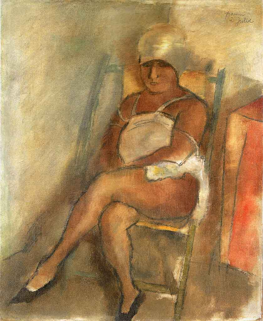 "Жюль Паскин (Jules Pascin) ""Woman from Martinuque with Turban"""