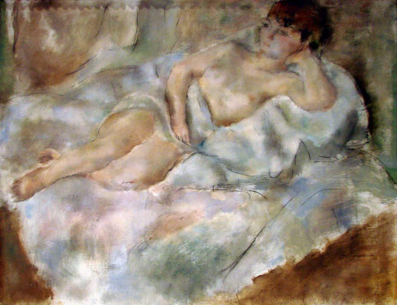 "Жюль Паскин (Jules Pascin) ""La Rêveuse"""