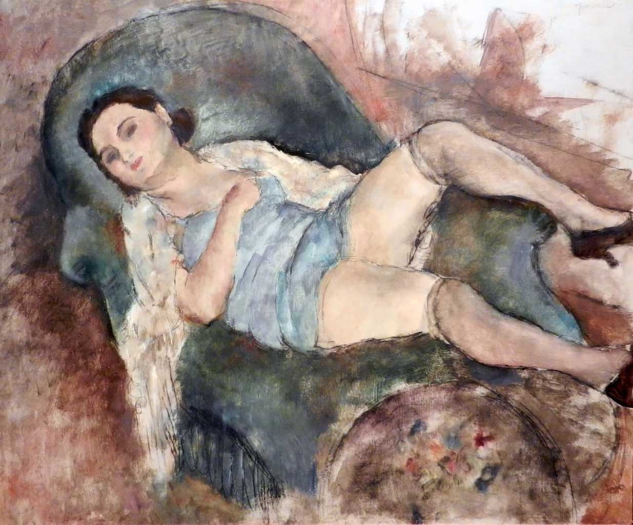 "Жюль Паскин (Jules Pascin) ""Femme se reposant"""
