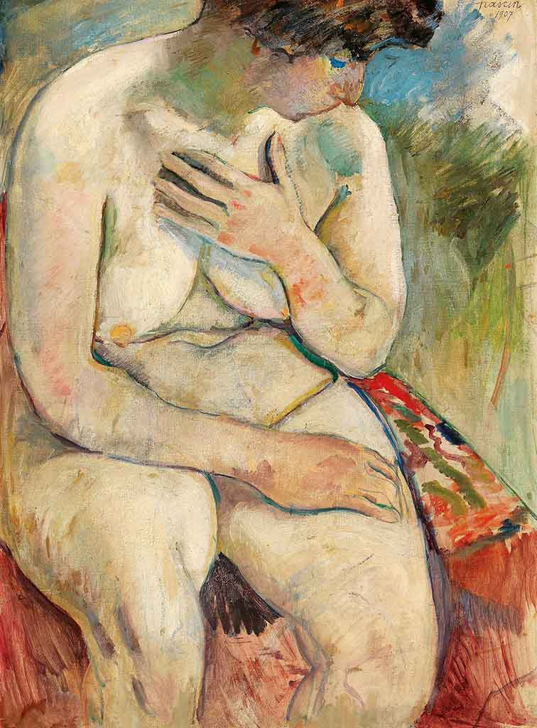 "Жюль Паскин (Jules Pascin) ""Seating nude"""