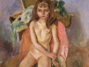 "Жюль Паскин (Jules Pascin) ""Sitting Girl"""