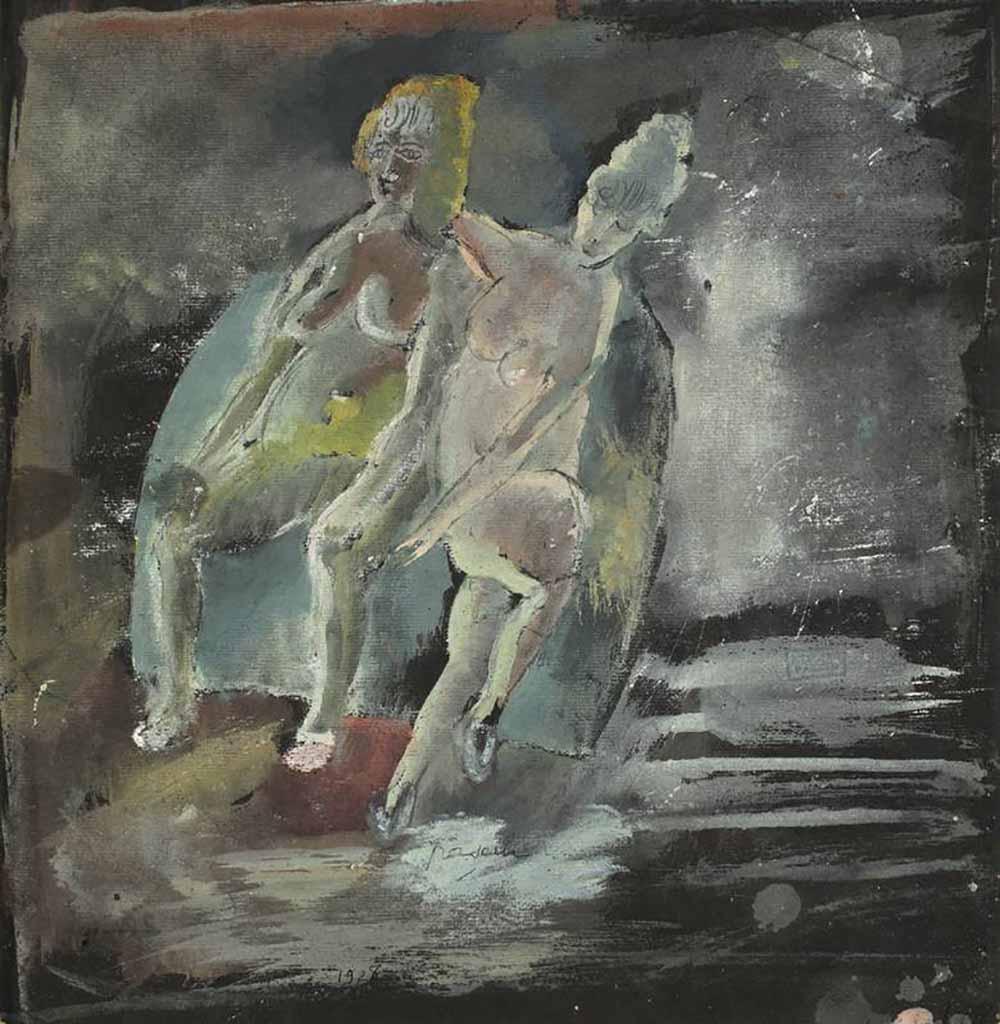 """Жюль Паскин (Jules Pascin) """"Zwei sitzende Akte"""""""