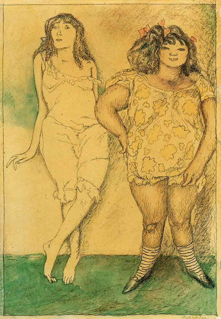 "Жюль Паскин (Jules Pascin) ""Two Girls"""