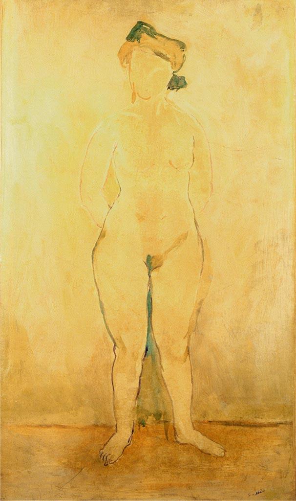"Жюль Паскин (Jules Pascin) ""Standing Naked Woman"""