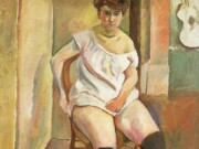 "Жюль Паскин (Jules Pascin) ""Woman Putting on Yellow Rubber Boots"""