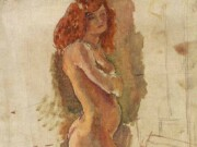 "Жюль Паскин (Jules Pascin) ""The First Pose"""