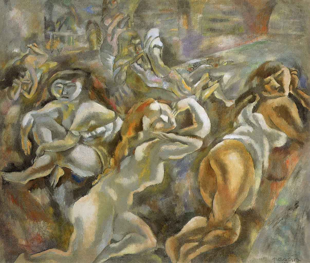 "Жюль Паскин (Jules Pascin) ""Prodigal Son and Girls"""