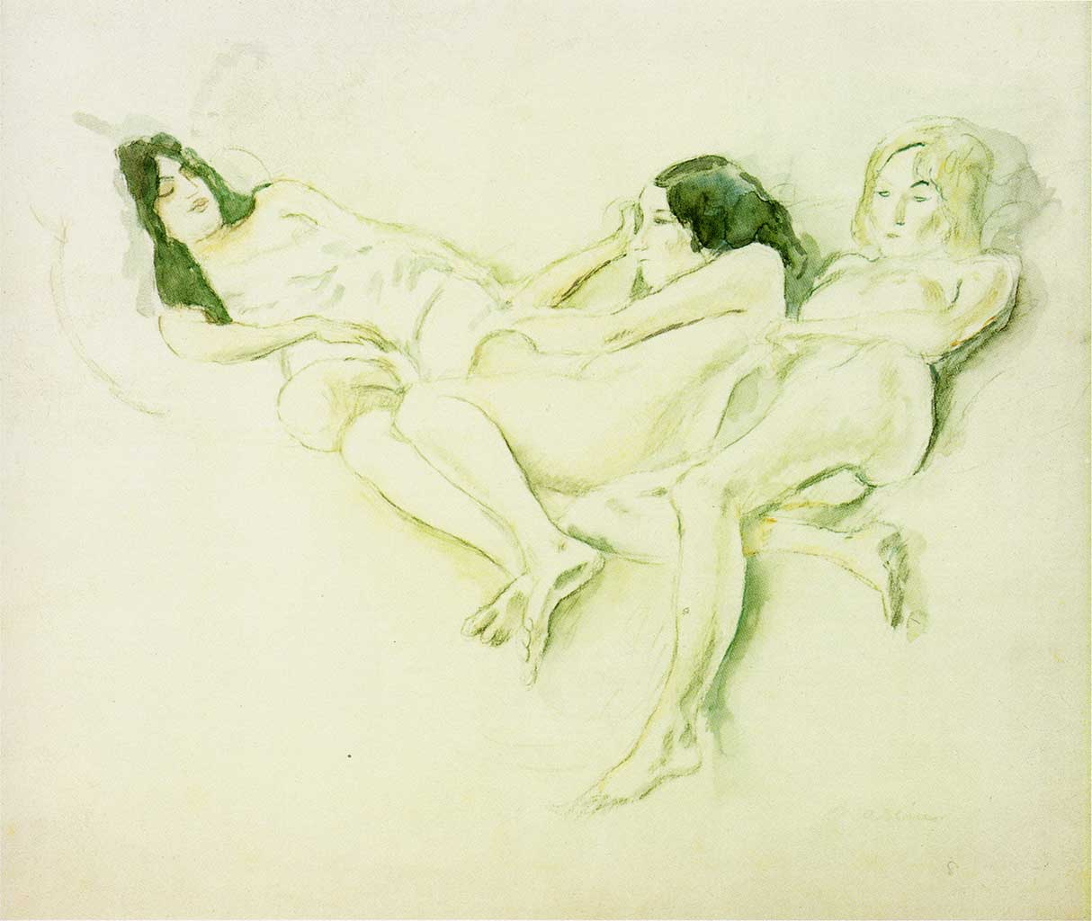 "Жюль Паскин (Jules Pascin) ""Three Girls"""