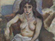 "Жюль Паскин (Jules Pascin) ""A Woman with Blue Eyes"""