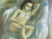 """Жюль Паскин (Jules Pascin) """"Naked Woman on Couch"""""""