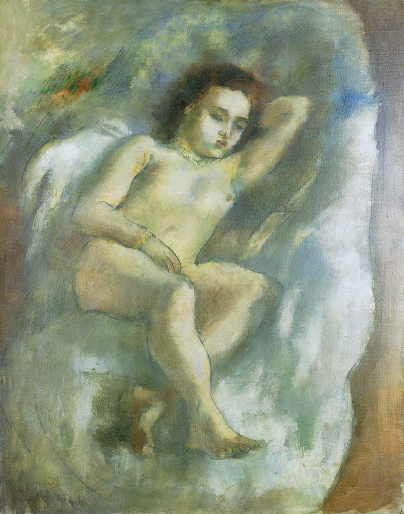 "Жюль Паскин (Jules Pascin) ""Naked Woman on Couch"""